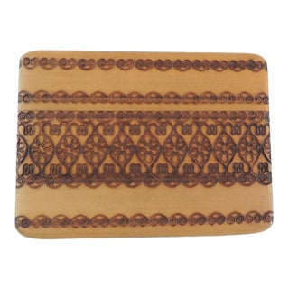 Indian Hand-Carved Playing Cards Holder For Sale