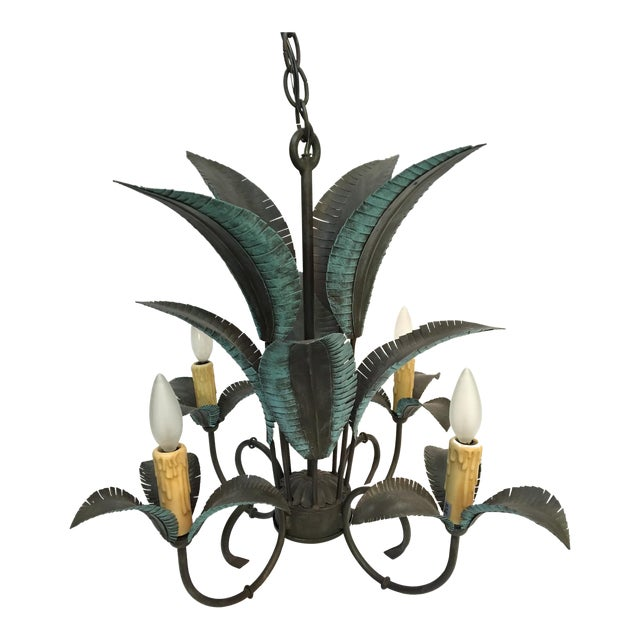 Arte De Mexico Palm Tree Chandelier For Sale
