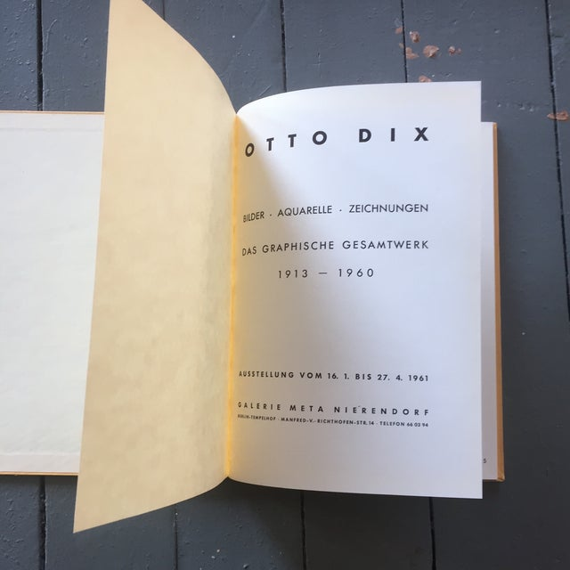 Book published 1961 of Otto Dix woodblocks original Woodblock on cover