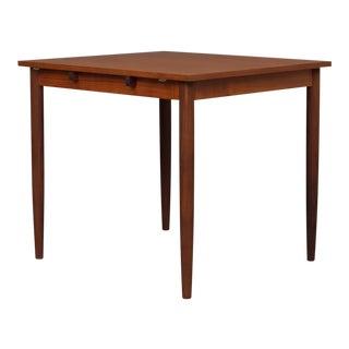 1950s Danish Modern Drop Leaf Teak Table