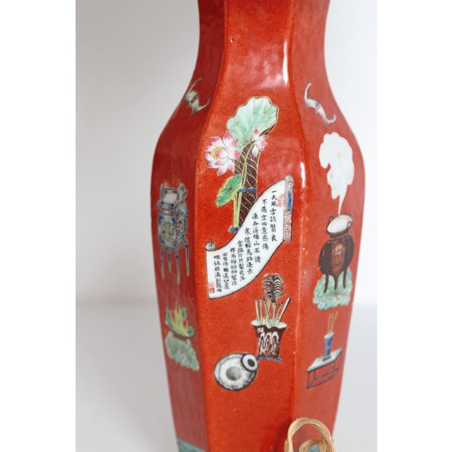 Early 19th Century Pair of Early 19th Century Porcelain Chinese Vases as Lamps For Sale - Image 5 of 13