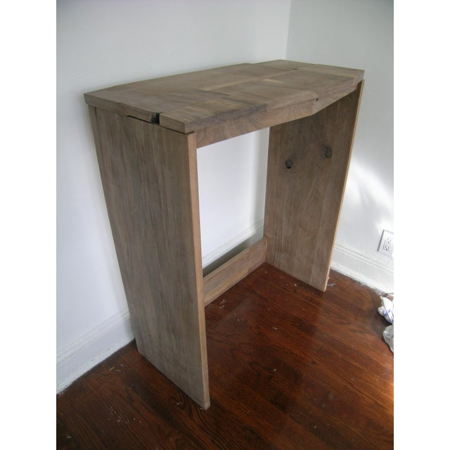 Tan Contemporary Fashion Inspired Walnut Console Table For Sale - Image 8 of 9