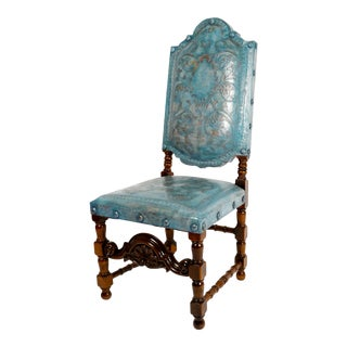 Portuguese Style Carved Side Chair: Iseppa
