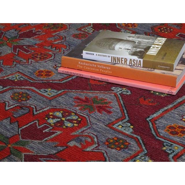 Caucasian Sumak Carpet For Sale - Image 4 of 10