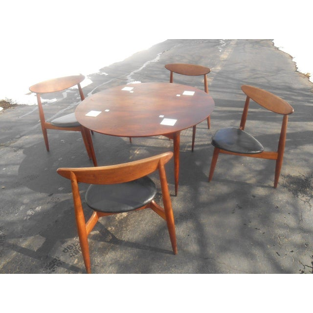 Mid-Century Modern Hans Wegner Dining Set / Game Table For Sale - Image 3 of 10