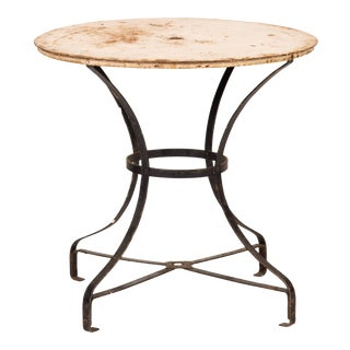 Rustic Antique Metal Garden Table For Sale