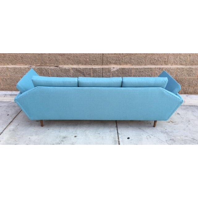 Mid-Century Sculptural Sofa in Powder Blue - Image 6 of 6