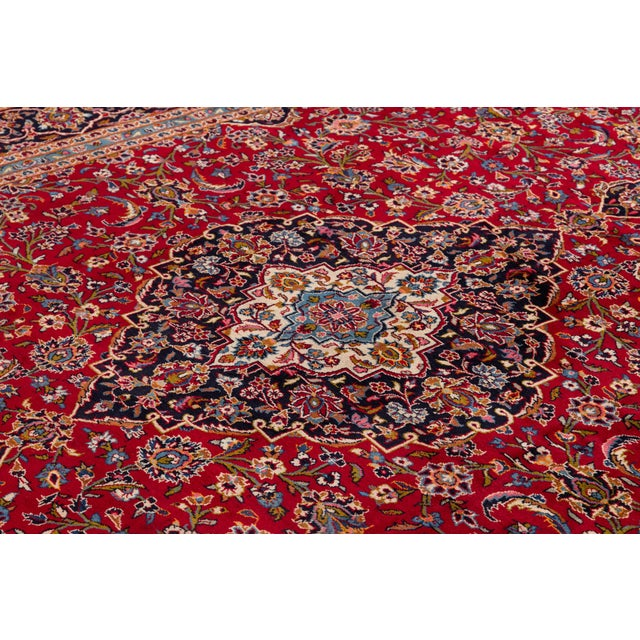 "Traditional Vintage Persian Kashan Rug, 9'8"" X 13'1"" For Sale - Image 3 of 10"