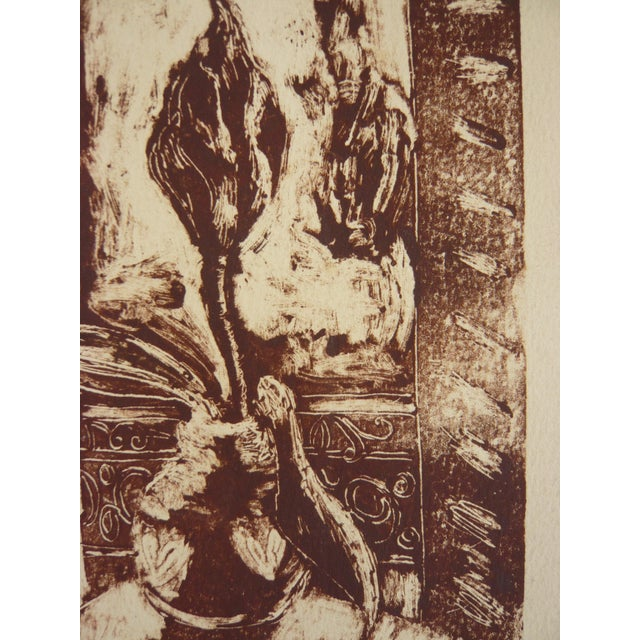 """""""Plant in a Window"""" Monoprint by Martha Holden - Image 2 of 4"""