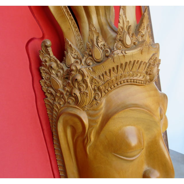Thai Mounted Buddha Wood Carving For Sale In Los Angeles - Image 6 of 10
