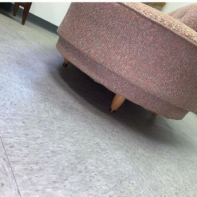 Vintage 1950's Mid-Century Modern Fainting Couch For Sale In Charleston - Image 6 of 13
