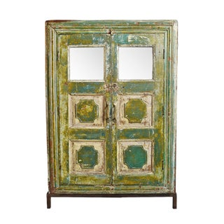 Antique Colonial Storage Cabinet For Sale