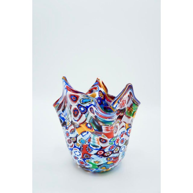 Vintage Murano Millefiori Handkerchief Vase For Sale - Image 12 of 12