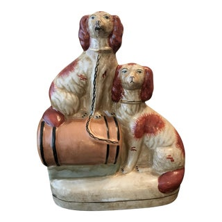 Double Staffordshire Dog Statue