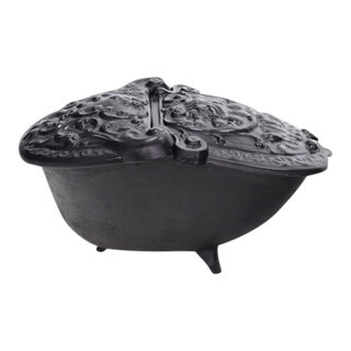 Early 20th Century Cast Iron Coal Box For Sale