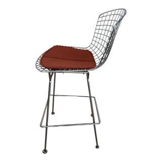Mid-Century Modern Knoll Harry Bertoia Polished Chrome Barstool For Sale
