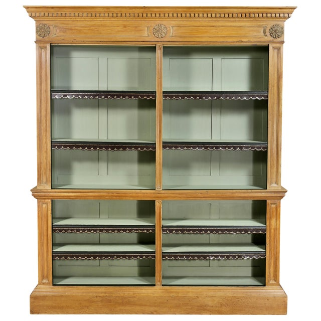 George III Pine Bookcase For Sale
