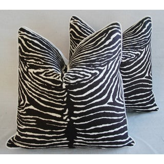 """Custom Brunschwig & Fils Zebra Feather/Down Pillows 23"""" Square - a Pair Preview"""