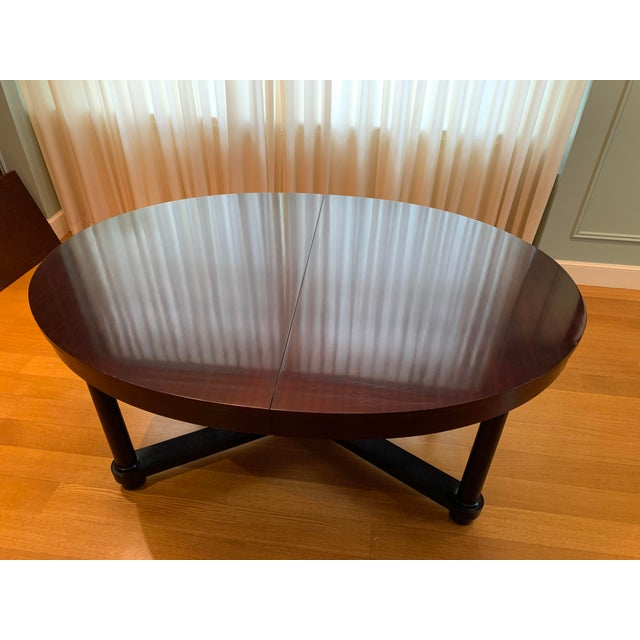 Barbara Barry for Baker Mahogany Ambassador Oval Dining Table For Sale - Image 10 of 13