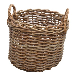 Large Rattan Harvest Basket For Sale