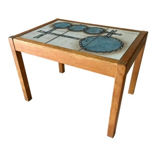 Vintage Danish Teak Side Table Gangso Mobler Organic Modern