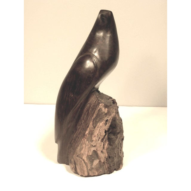 Mid Century Hand Carved Wood Bird Sculpture - Image 2 of 7