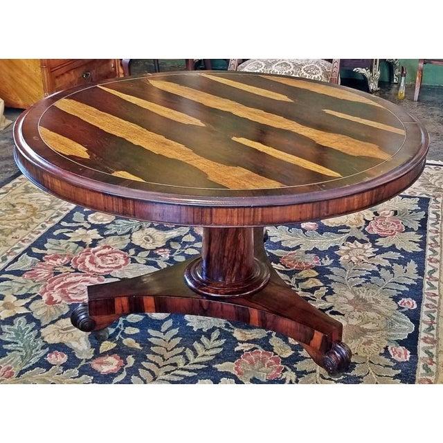 19c British Regency Tilt Top Center Table - Quality For Sale In Dallas - Image 6 of 10