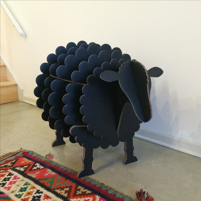 Black Cardboard Sheep Storage Shelf - Image 2 of 6
