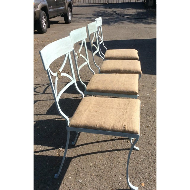Metal French Empire Chairs - Set of 4 For Sale - Image 7 of 11