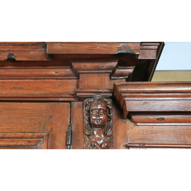 Amazing 1800's solid wood Italian 2 piece cabinet in well kept condition. Has some damages as shown on the photos. Has...