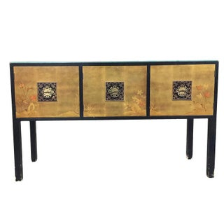 James Mont Style Asian Inspired Console Cabinet For Sale