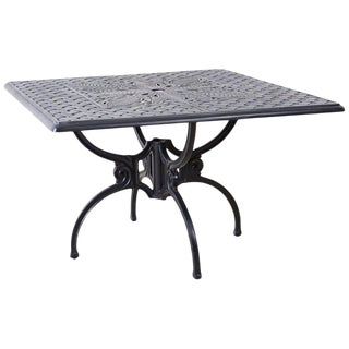 Neoclassical Molla Style Cast Aluminium Garden Dining Table For Sale