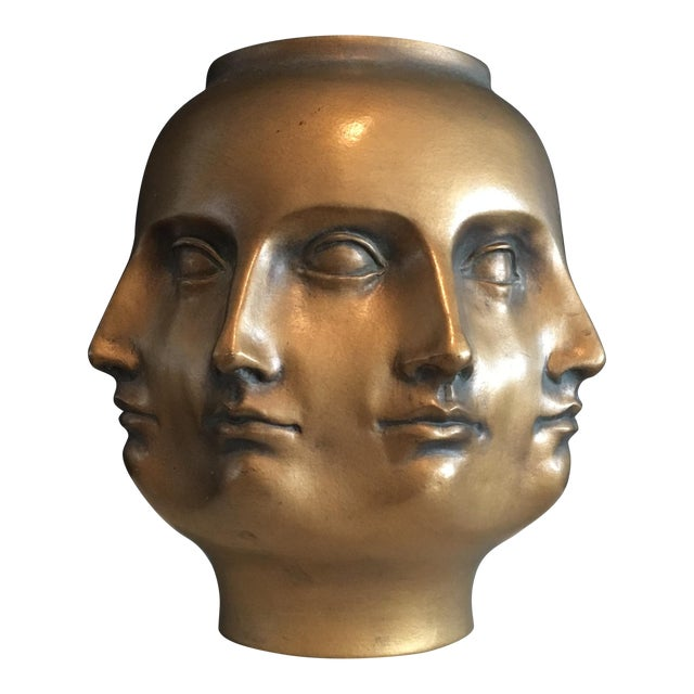 Hollywood Regency Dora Maar Perpetual Faces Vase Chairish
