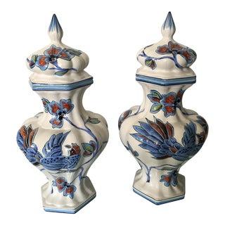 Vintage Italian Urns Dal Pra Ria Ceramiche - a Pair