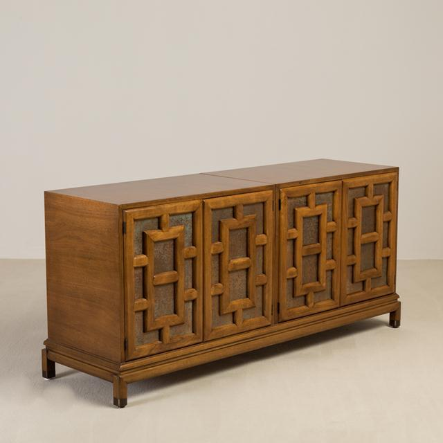 Asian Modern Four-Door Cabinet by Renzo Rutili, 1960s For Sale - Image 6 of 6