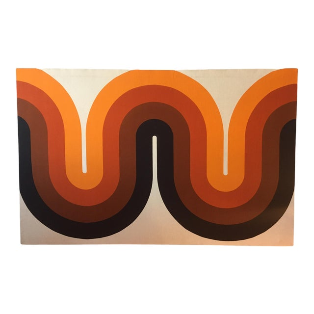 Mid-Century Stretched Canvas Screen-Print by Verner Panton For Sale