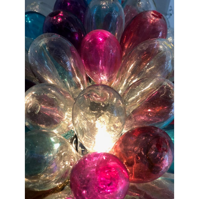 Light Fixture of Stained Colorful Handblown Glass For Sale - Image 12 of 12