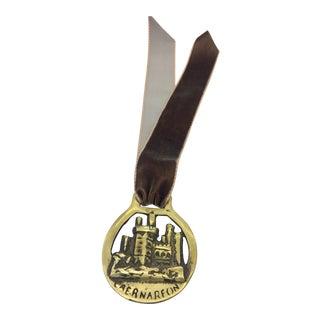 Vintage English Brass Horse Ornament Medallion