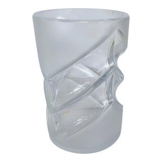 Peill & Putzler German Mid-Century Crystal Vase For Sale