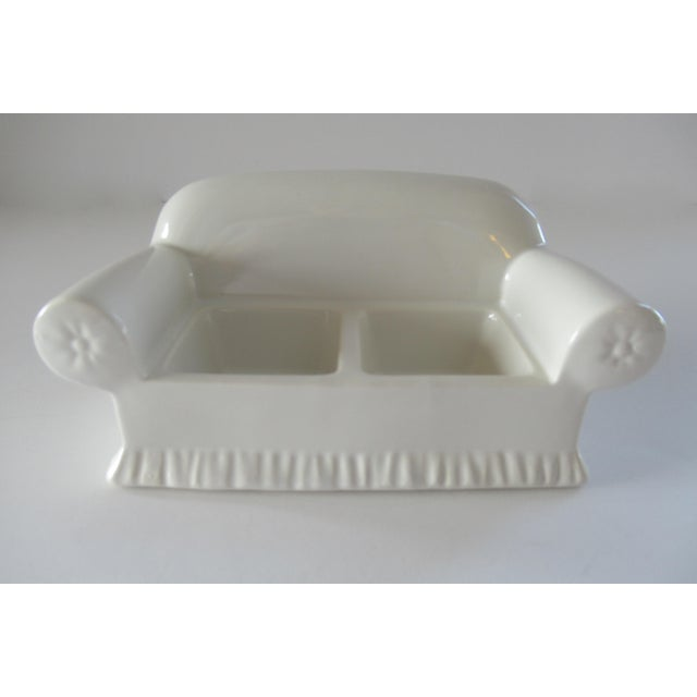 Ceramic Vintage Donghia for Toscany Ceramic Sofa Keepsake Box For Sale - Image 7 of 13