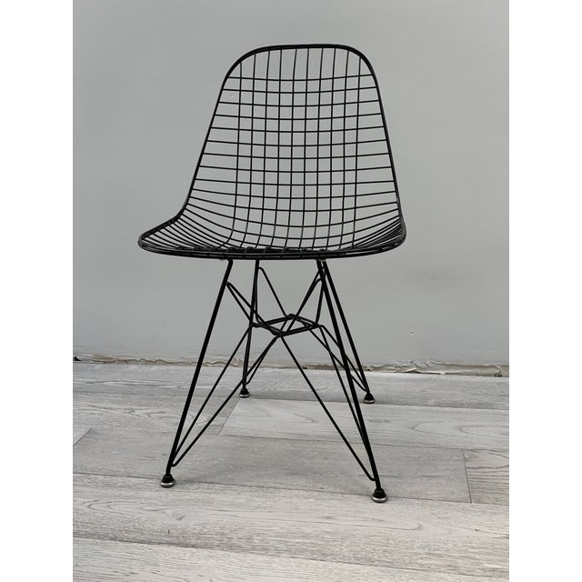 Mid Century Modern Eames Herman Miller Wire Chair For Sale - Image 11 of 11