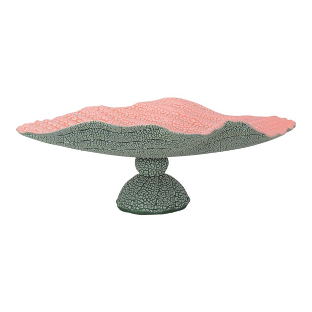 Stylized Watermelon Bowl, Signed For Sale