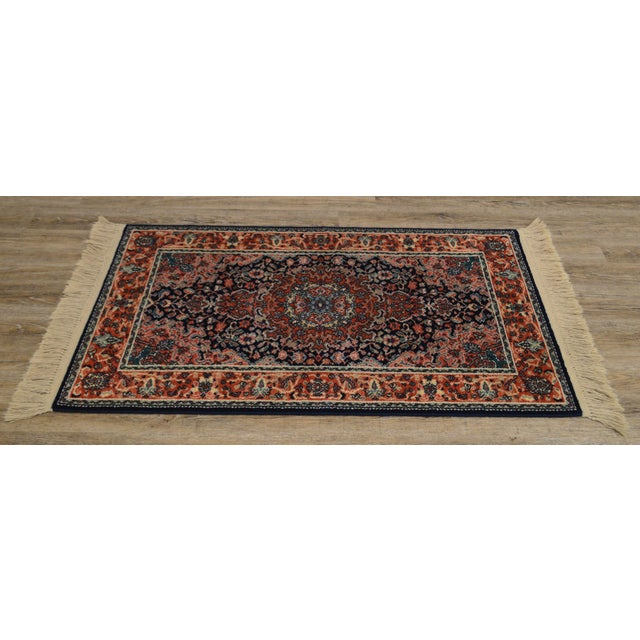 "1990s Karastan Kashan Medallion 2'10"" X 5' Throw Rug #741 For Sale - Image 5 of 13"