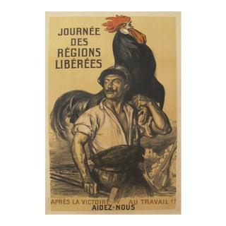 1919 French Vintage Propaganda Poster, Regions Liberees