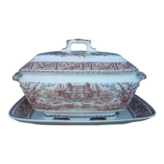 Vintage Ironstone Daffodil Tureen & Underplate For Sale