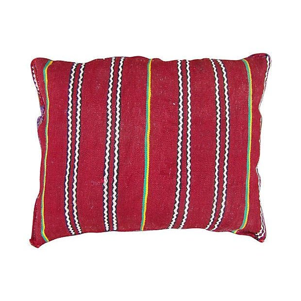 One of a kind hand-woven tribal pillow. The rhythmic variations of design patterns, vibrant colors and Berber motifs in...