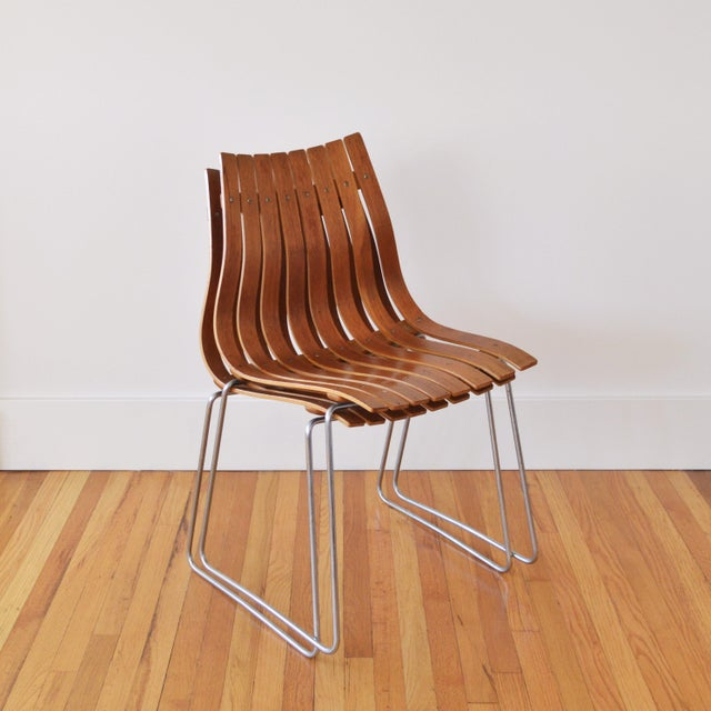 """This pair of Scandia """"Junior"""" chairs was designed by Hans Brattrud for Hove Mobler. They are stunning examples of..."""