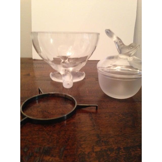 1970s Marie-Claude Lalique Caviar Bowl Set For Sale - Image 5 of 7