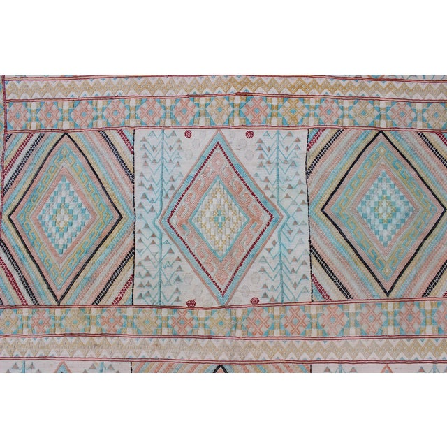 Textile Keivan Woven Arts, S12-0303, Vintage Mid-Century Embroidered Moroccan Rug - 5′ × 9′ For Sale - Image 7 of 10