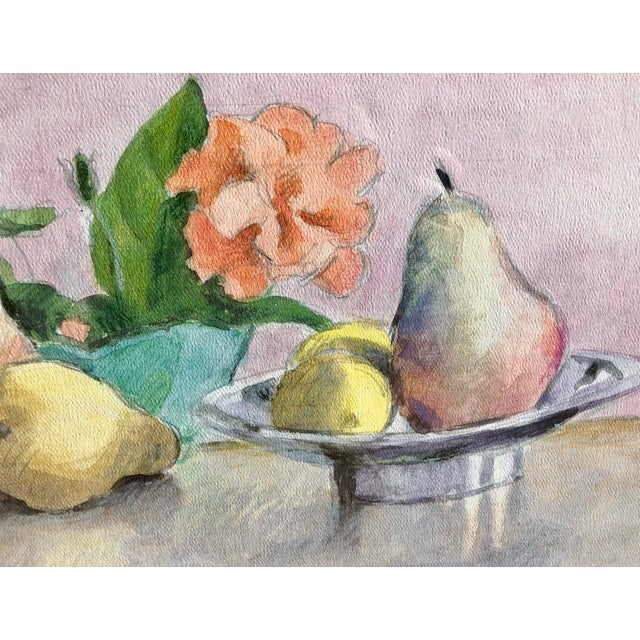 1970s Still Life Watercolor of Fruit For Sale - Image 5 of 10